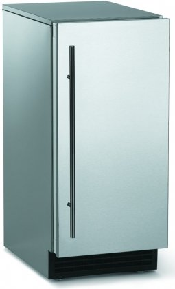 Scotsman SCCG50MA-1SS Brilliance Series 15'' Outdoor Gourmet Ice Machine 65 lbs Production Capacity 26 lbs Storage Water-quality Sensor Field Reversible Door: Stainless by Scotsman