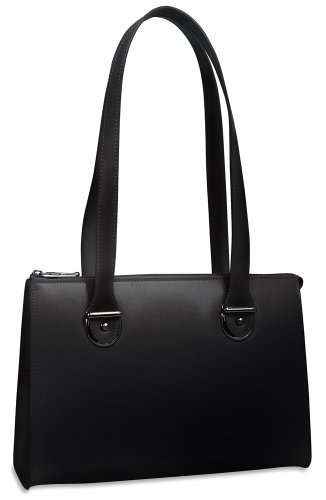Jack Georges Milano Italian Leather Handbag,Black,One Size by Jack Georges