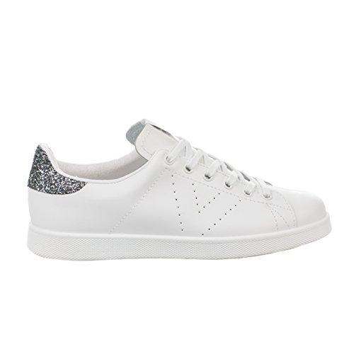 VictoriaDeportivo Basket Piel - botas de caño bajo Unisex adulto Blanc