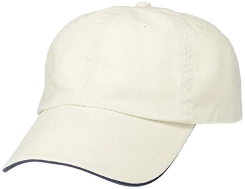 (Clementine Men's ULTC-8112-Brushed Cotton Twill Unconstructed Sandwich Cap, Stone/Navy, One Size)
