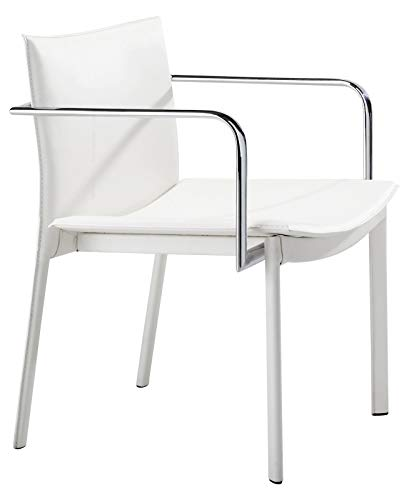 Zuo Modern Gekko Conference Chair in White and Chromed ()