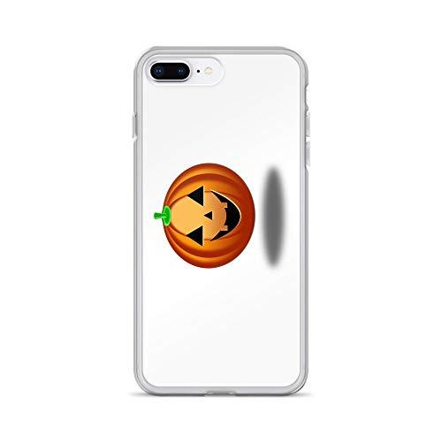 (iPhone 7 Plus/8 Plus Case Anti-Scratch Creature Animal Transparent Cases Cover Halloween Pumpkin Smiling Orange Halloween Pumpkin On W Animals Fauna Crystal)