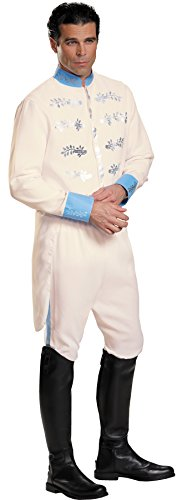 Disney Cinderella Movie Prince Charming Outfit Fancy Dress Halloween Costume, STD (42-46) ()