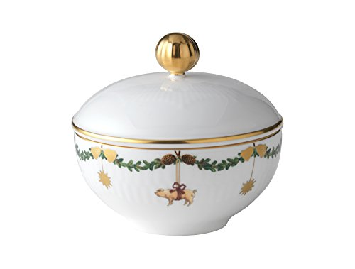 Royal Copenhagen Star Fluted Christmas Sugar Bowl w/Lid ()