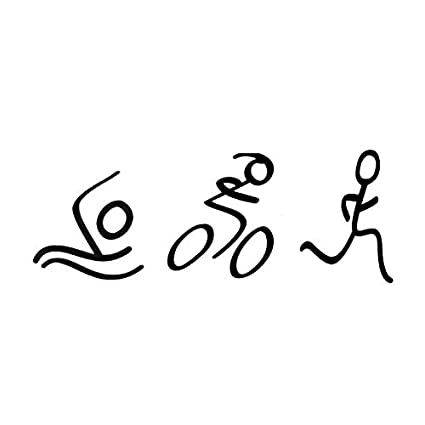 Amazon com: LXB Shop Fashion Simple Triathlon Sticker Swim