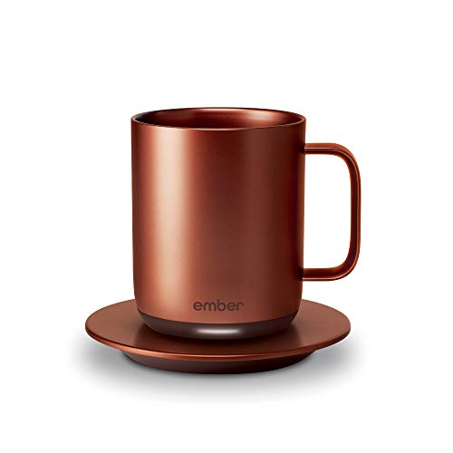 Ember Temperature Control Smart Mug, 10 oz, 1-hr Battery Life, Copper - App Controlled Heated Coffee Mug