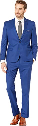 Nick Graham Men's Blue Pindot Suit Bright 38 Short