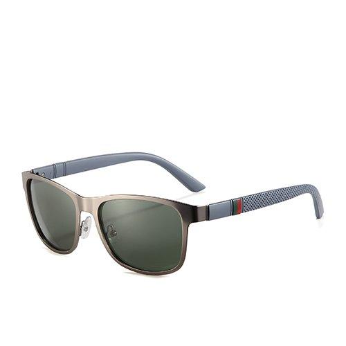Sol de Negro Hombres de C2 Sunglasses de para de Moda TL Hombres para Cuadrados polarizadas Gafas Humo C4 Sol Gafas Viaje G15 Gafas la Orientación los Gun Eg11vqOW