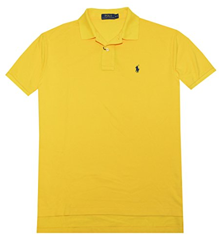 Polo Ralph Lauren Men Classic Fit Mesh Polo Shirt (Small, Athletic Gold)