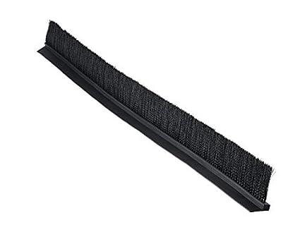 Tanis Brush MB100236 Metal Back Strip Brush with Light Duty 7//16 Galvanized Steel Backing Black Nylon Bristles 3 Trim Length 0.020 Bristle Diameter 3 Overall Length