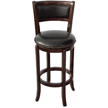 Amazon Com Soft Leather Swivel Bar Stool With Leather