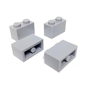 Lego Parts: Brick 1 x 2 (PACK of 4 - LBGray) by Parts/Elements - Bricks: Amazon.es: Juguetes y juegos