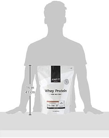 Marca Amazon - Amfit Nutrition Proteína de Suero de Leche en Polvo 2.27kg - Chocolate (anteriormente PBN)