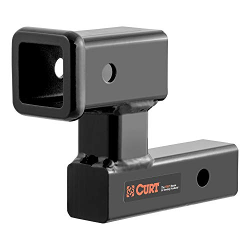 (CURT 45794 Raised Trailer Hitch Extender, Fits 2-Inch Receiver, Extends Receiver 5-1/4 Inches, 4-1/4-Inch Rise)