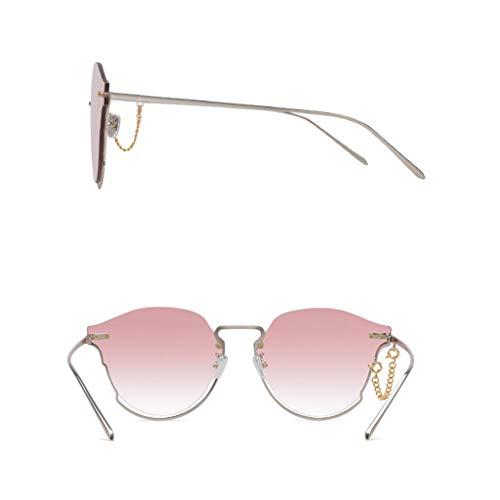 Mujer de psicodélicas Vogue Metal la UV del de del Nylon Marco Nuevas Lente sol de Running Gafas Aviador Coloridas Medio tx6aqw4