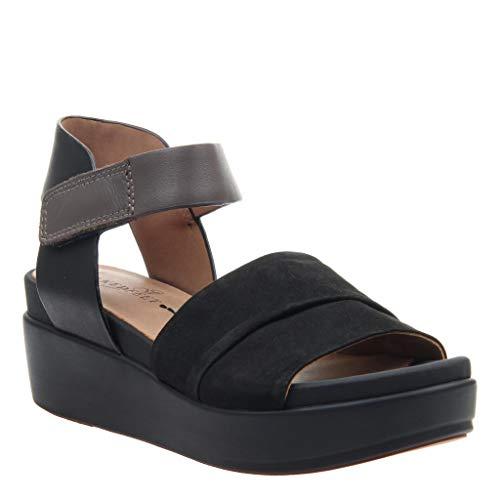 - naked Feet Women's Koda Wedge Sandals - Black - 7.5 M US
