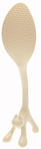 Kotobuki Stretching Cat Rice Paddle, Ivory by Kotobuki