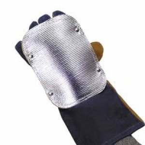 Back Hand Pad, Single Layer, 7'', Elastic/High-temp Kevlar Strap Closure, Silver (30 Pack)
