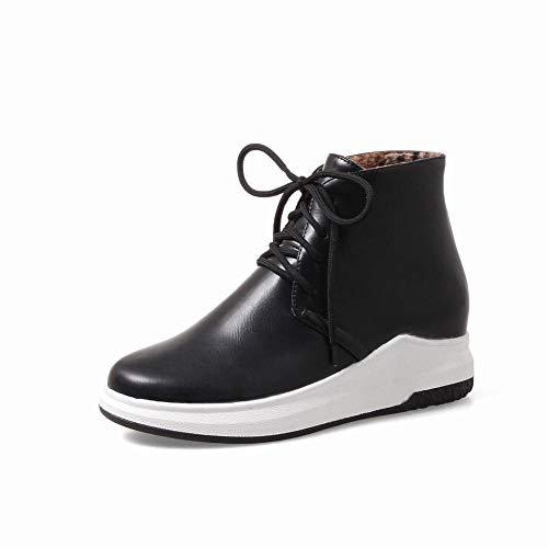 A Tonda Testa Xe Donna stivali Stivali Neve Da Invernali Antiscivolo scarpe Con Caldi Plateau 43 Piatti Nero 34 067w6n