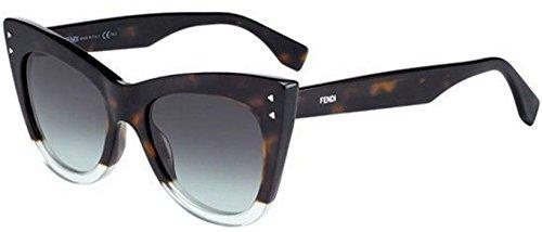 New Fendi COLOR BLOCK FF 0238/S PHW/IB Havana Green/Grey Green Sunglasses