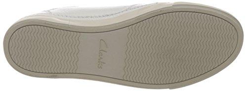 Clarks Torbay Craft, Herren Sneakers, Weiß (White Leather), 44.5 EU