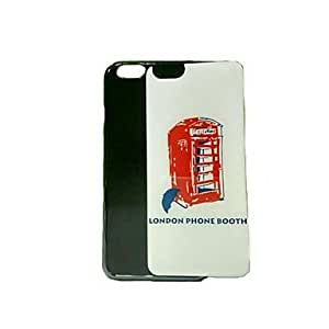 QJM Newest London Phone Booth Pattern Epoxy Gel Cover for iPhone 6