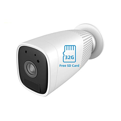 JOOAN 1080P HD Wireless Rechargeable Battery Powered Security Camera WiFi IP Camera Wire-Free Home Surveillance Cameras with Two Way Audio PIR Sensor Motion Detection Super Night Vision With 32G Micro