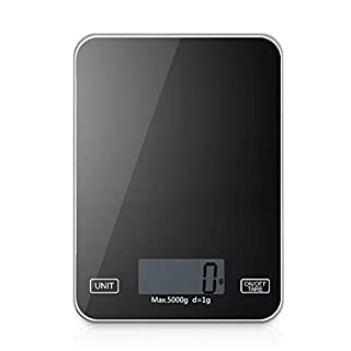 Kumako Food Scale,Digital Kitchen Scales Weight Grams and Oz for Baking and Cooking, LCD Display,Tempered Glass Surface,11LB/5KG