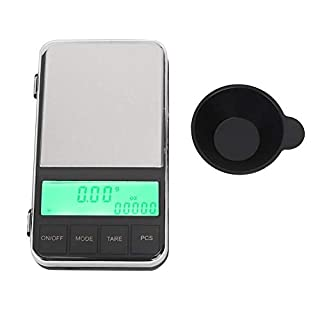 Ichiias Food Scale LCD Digital Electronic Mini Kitchen Weighing Measuring Tool (200g/0.01g)