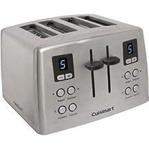 Cuisinart Stylish Custom Classic 4 Slice Metal Toaster with Dual Control Panels and Enhanced Bagel Boasting
