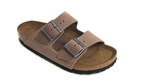Birkenstock Women's Arizona Soft Footbed Sandal Caribou Nubuck Size 38 N EU