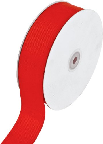 Creative Ideas Solid Grosgrain Ribbon, 1-1/2-Inch by 50-Yard, Red