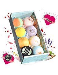 Bath Bombs stars luxury fragrance and color gift box, the other to send the bamboo charcoal soap, 2.8oz8pcs