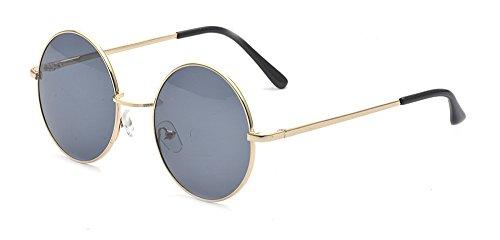 4e34f680f3 ALWAYSUV Classic Round Circle Mirrored Lens Thin Frame John Lennon  Sunglasses Eyewear
