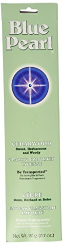 Blue Pearl Classic Fragrance Incense, Cedarwood, 20 Gram