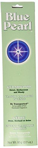 Incense Blue - Blue Pearl Classic Fragrance Incense, Cedarwood, 20 Gram