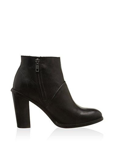 Hakei Damen Stiefel High Heel Stiefelette Reißverschluss schwarz