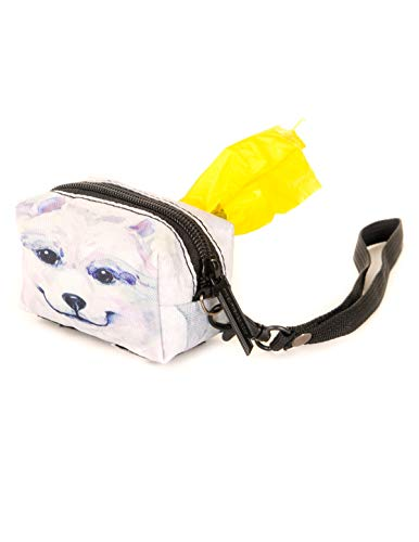 Fydelity poopyCUTE- Poop Bag Dispenser for Fashionably Cute Owners and Dogs | Doggie Eskimo Dog |Luxury Leash Waste Holder for Women/Breeds/Travel/Walking]()