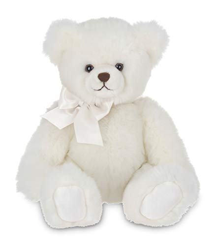 White Plush - Bearington Aspen White Plush Stuffed Animal Teddy Bear, 17 inches