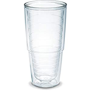 Tervis 1001839 Clear & Colorful Insulated Tumbler, 24 oz Tritan, Clear