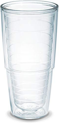 Tervis 1001839 Clear & Colorful Insulated Tumbler, 24 oz Tritan, Clear (Tervis Tumbler 24)
