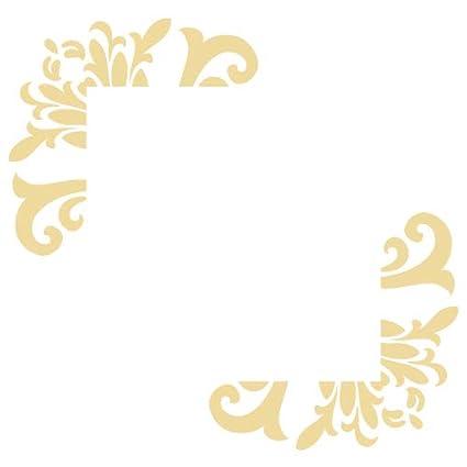 Sticker Interrupteur Aspect Brillant Beige Ornement Floral