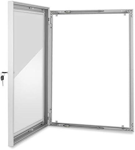 Guellin A1 Marco de Aluminio con Llave Estructura de Exhibición Panel de Anuncios con cerradura Tablón Vitrina Bloqueable: Amazon.es: Oficina y papelería