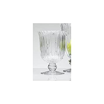 Amazon.de: Sandra Rich Windlicht, Vase, Dekoglas ELEGANCE auf Fuß H ...