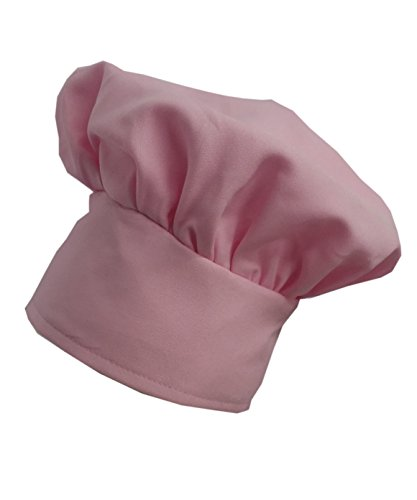Chefskin Chef Mushroom Hat Kids Children PURPLE Velcro Adjustable (Chef Pink)