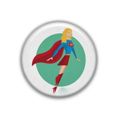 (Z Supergirl : Superheros, Pinback Button Badge 1.99 Inch (38mm))