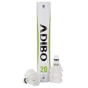 ADIBO Badminton Ball, Badminton Shuttlecocks Feather for Outdoor Sport