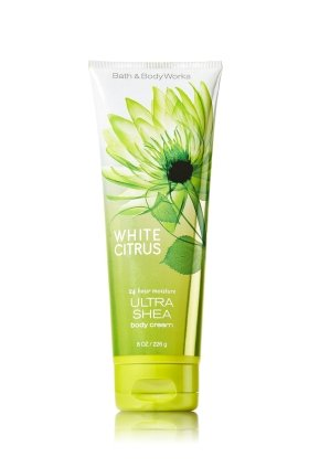 Bath & Body Works, Signature Collection Ultra Shea Body Cream, White Citrus, 8 Ounce -