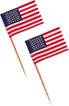 Mini American Flag Toothpicks - Pkg of 500 - Cute for Cupcakes! (American Flag Cupcake Picks)