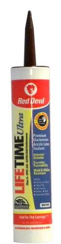Red Devil 077040 Lifetime Ultra Premium Elastomeric Acrylic Latex Sealant, 10.1-Ounce, Brown for $<!--$4.84-->